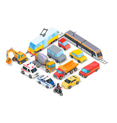 transport collection poster vector image