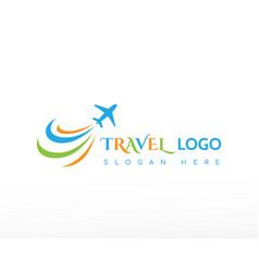 Travel logo beauty travel color logo vector