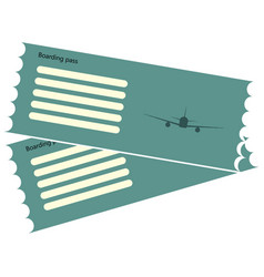 two airline boarding pass vector image