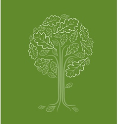 Vintage abstract tree vector