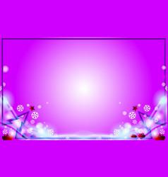 Violet merry christmas modern frame background vector
