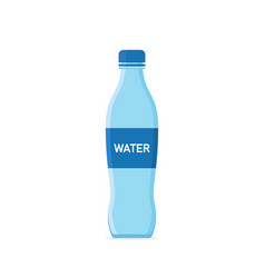 water bottle icon plastic or glass bottle with vector image
