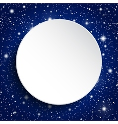 white circle banner on a starry sky eps 10 vector image