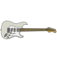 White electric guitar vector