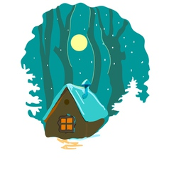 Winter house vector