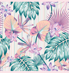 winter tropical pattern seamless stripe background vector image