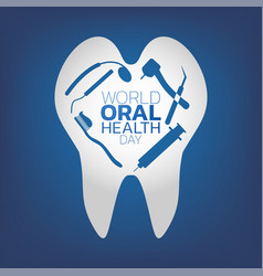 world oral health day logo icon design vector image