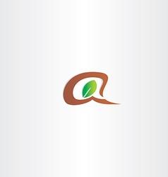branch and leaf letter a logo vector image