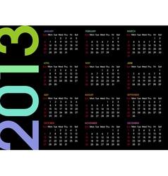 calendar 2013 4 vector image vector image