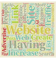Increase website traffic with links to your vector