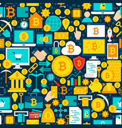 bitcoin tile pattern vector image vector image