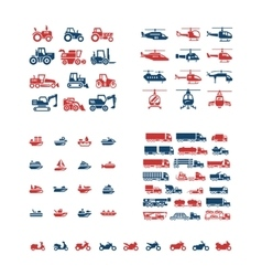 Set color icons of transport vector image vector image