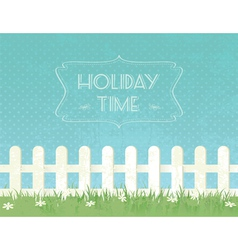 summer g fence vector image vector image
