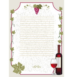 wine card vector image vector image