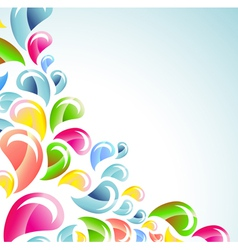 abstract color bright splash vector image
