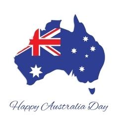 Australia map for Australia Day vector image vector image