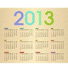 calendar 2013 5 vector image vector image