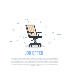 chair and job offer vector image vector image