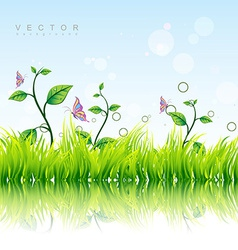 colorful nature background vector image