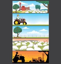 Farm landscapes vector