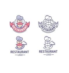 Restaurant logo set vector image vector image