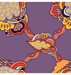 seamless abstract pattern with elements of fantasy vector image vector image