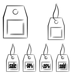 Set of graphic labels eps10 vector image vector image
