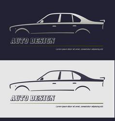 Abstract car design concept automotive topics vector