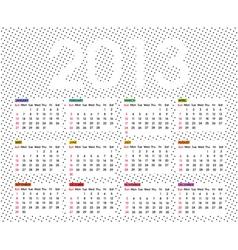 calendar 2013 6 vector image vector image