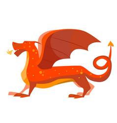 cartoon color fantasy animal dragon vector image vector image