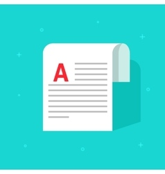 Copywriting document printed media paper sheet vector