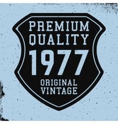 Shield vintage print vector