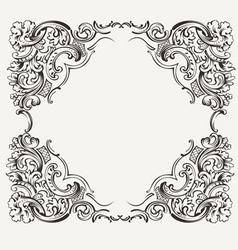 1201highornatequadframe vector image