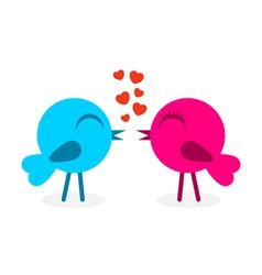 2 falling in love birds vector