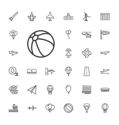 33 air icons vector