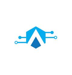 a letter tech logo vector image