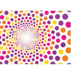 abstract background of multicolored circles vector image