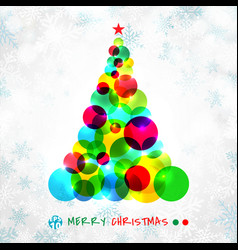 abstract christmas tree symbol made of colorful vector image