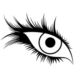 Abstract human eye with long lashes vector
