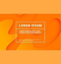 abstract minimal orange background with fluid vector image