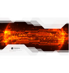 Abstract red digital communication technology vector