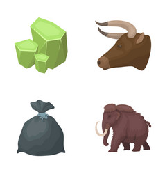 Animal history and other web icon in cartoon vector