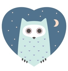 Animal set Portrait of a owl in love Flat vector