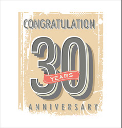 anniversary banner collection 30 years vector image