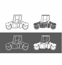 Asphalt paver icon vector