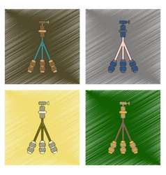 Assembly flat shading style icon technology tripod vector