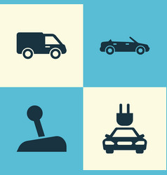 Auto icons set collection of convertible model vector