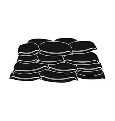 Barricade of bags of sandpaintball single icon in vector