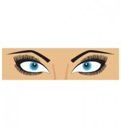 beauty eyes vector image