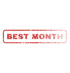 best month rubber stamp vector image vector image